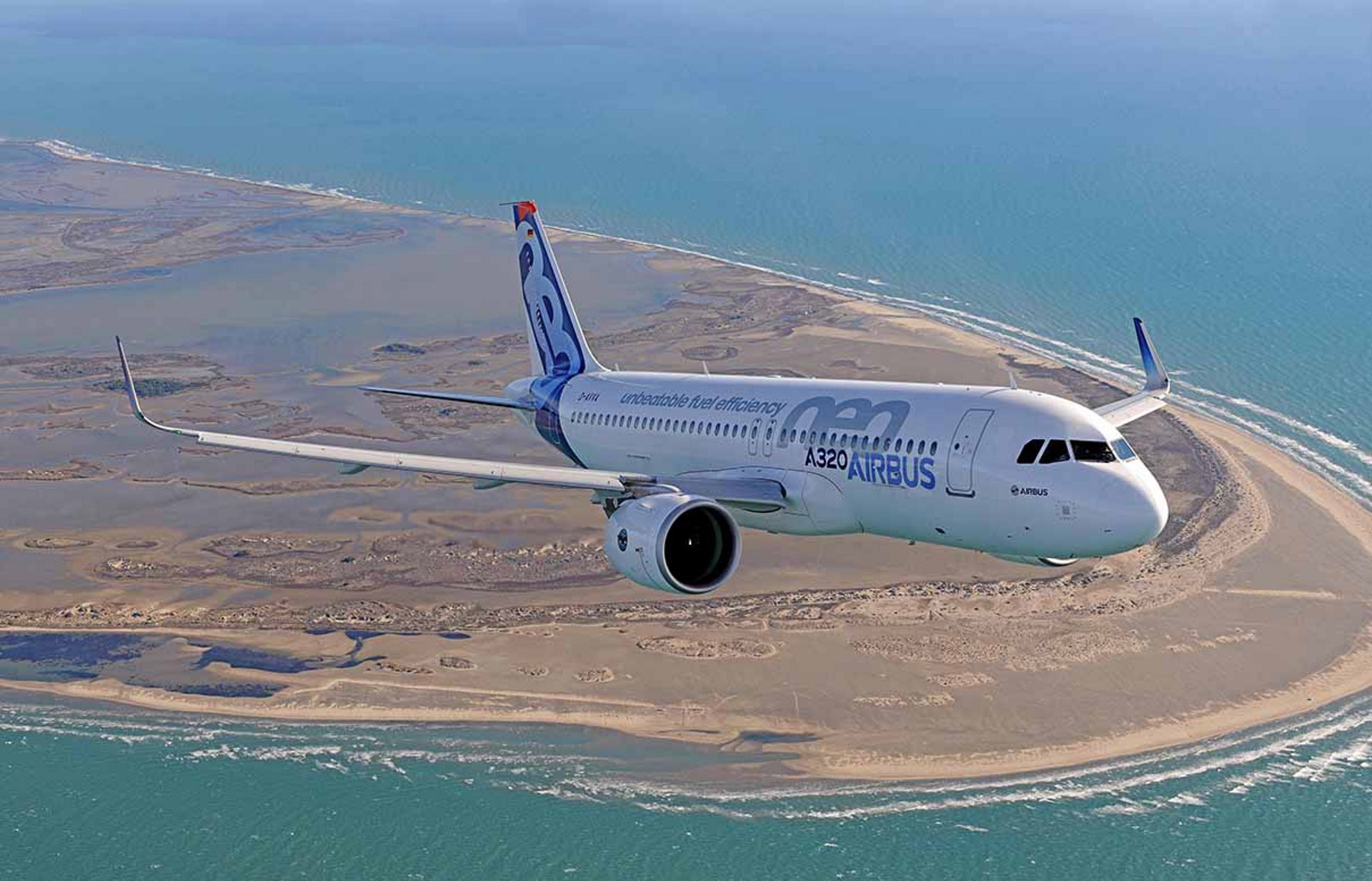 Figure 1: An Airbus A320neo, from the world's most advanced and fuel-efficient single-aisle aircraft family.