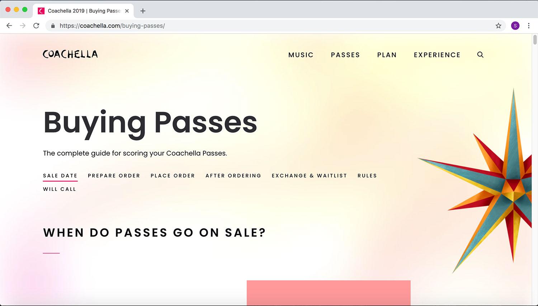 Coachella '19 Website