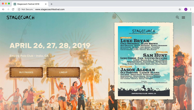 Stagecoach '19 Website
