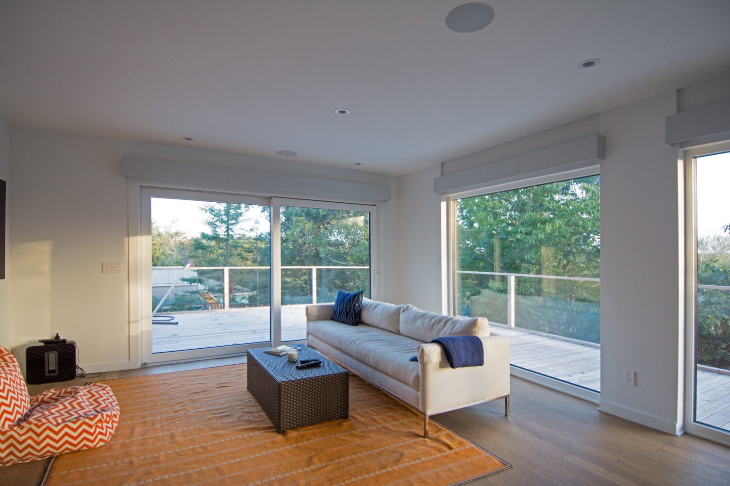 Living room with expansive views