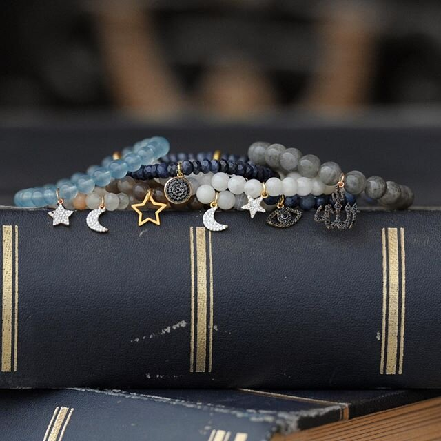 Inspired by the midnight sky. 🌙 Our newest collection for now available.   Aquamarine - Courage, hope, peace Rainbow Moonstone - Harmony, hope Black Moonstone - New beginnings, intuition, feminine energy Sapphire - Wisdom, calm, focus Botswana Agate - Comfort, strength, intuition Moonstone - Balance, feminine energy Labradorite - Transformation, strength, perseverance Kyanite - Calm, tranquility, balance Hematite - Protection, block negativity, relief stress  Bracelets between 250-300qr Mala Necklaces 500qr Gemstone phone beads 350qr   WhatsApp us at 3355 4320        #beadamoment #midnightsky #inspiration #stackbracelets #semipreciousgems #ramadancollection #livingyourbestlife #moon #stars #cresentmoon