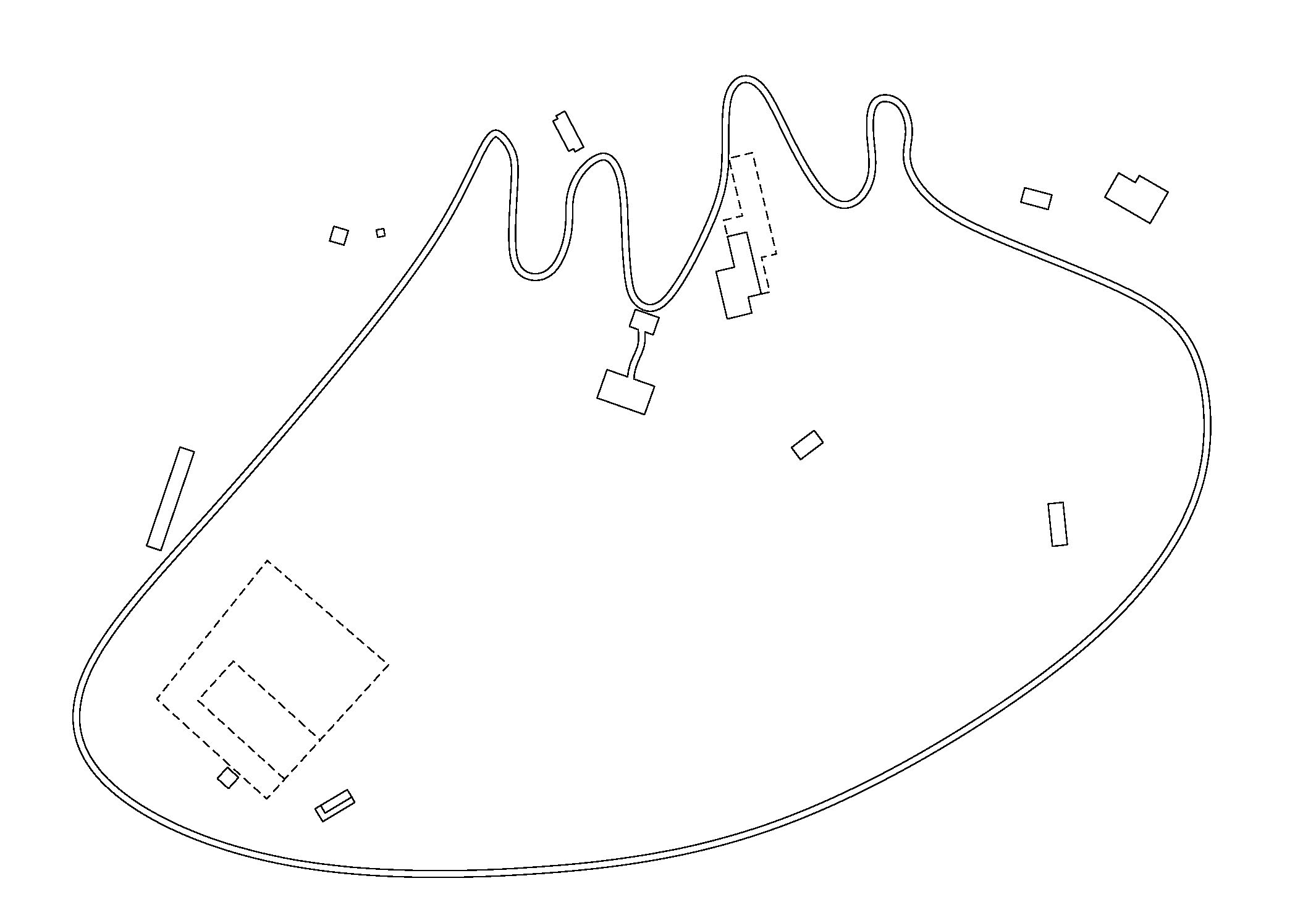 Kangaroo Island Site Plan  A buggy track defines the site and weaves through the landscape
