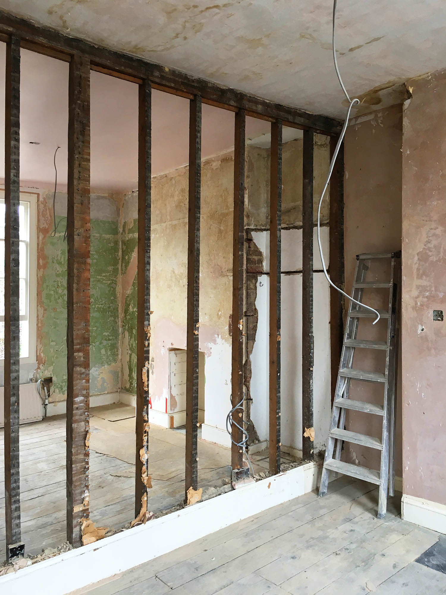 On site at Rydon St  PARTI completed a full renovation of the interior of the house as well as the extension