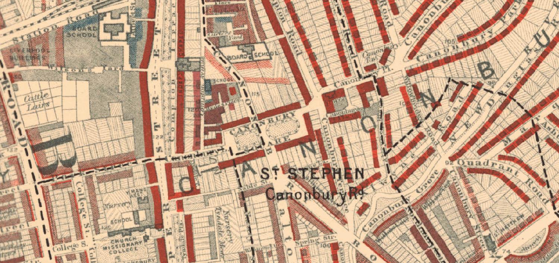 Historic map of Canonbury