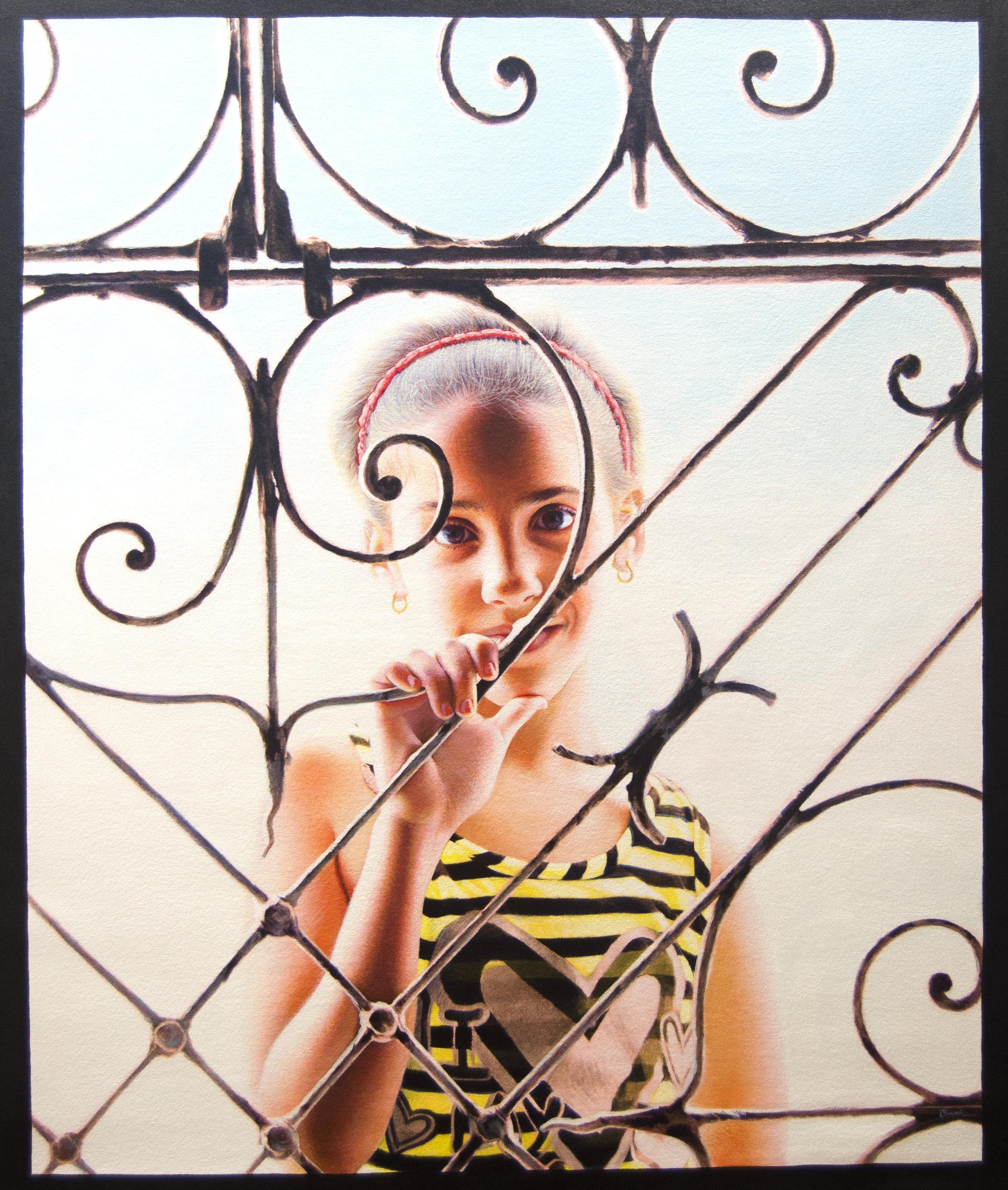 """Girl from Regla"", acrylic on canvas, 30"" x 36"""