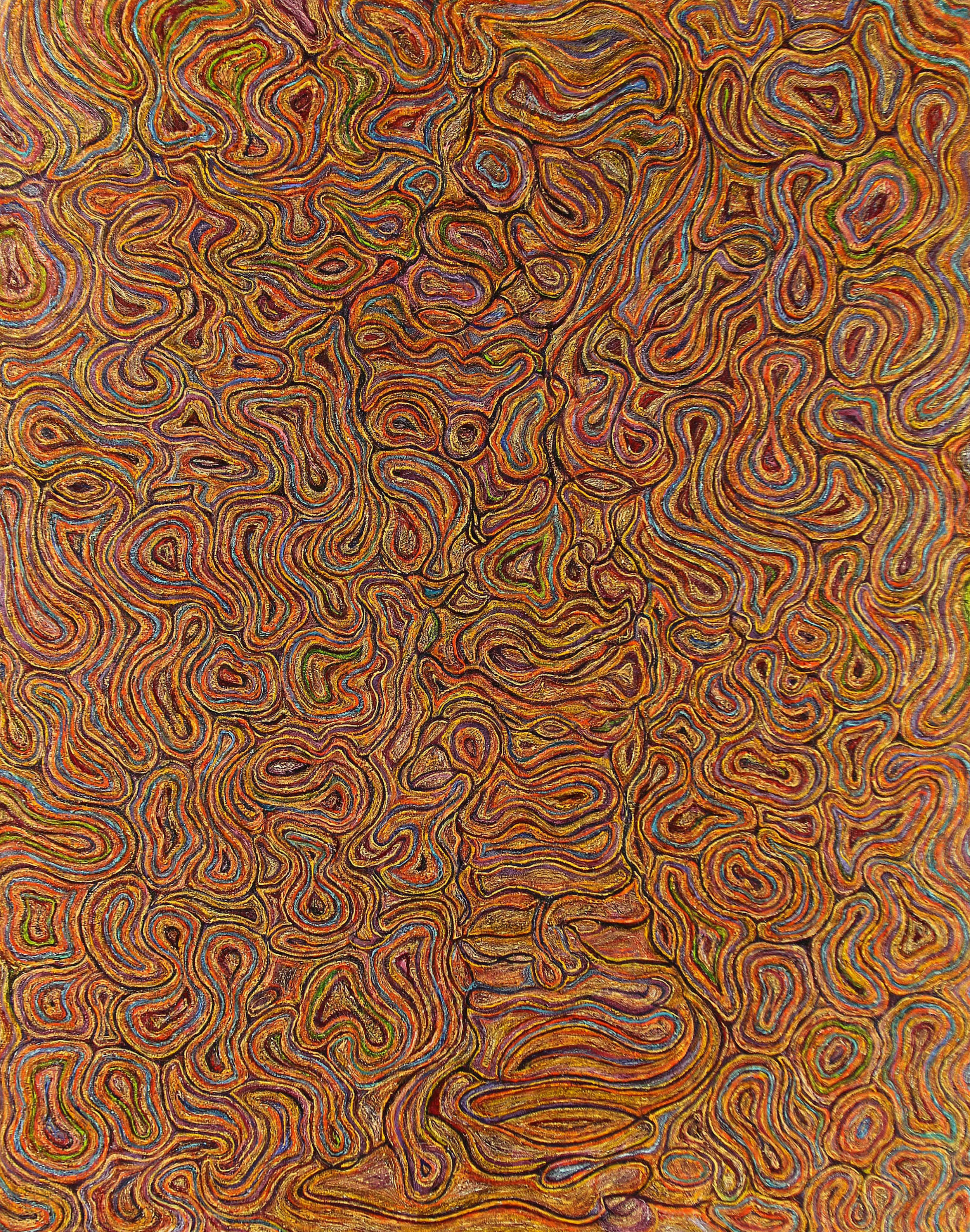"""Presence"", 2019, oil on canvas, 56"" x 44"""