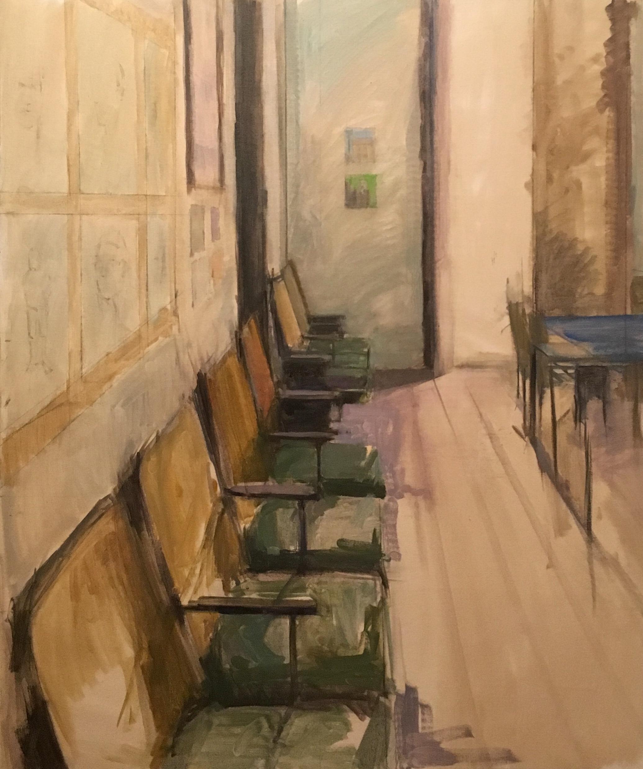 """""""Cesar Leal's Classroom"""", oil on canvas, 38"""" x 35"""""""