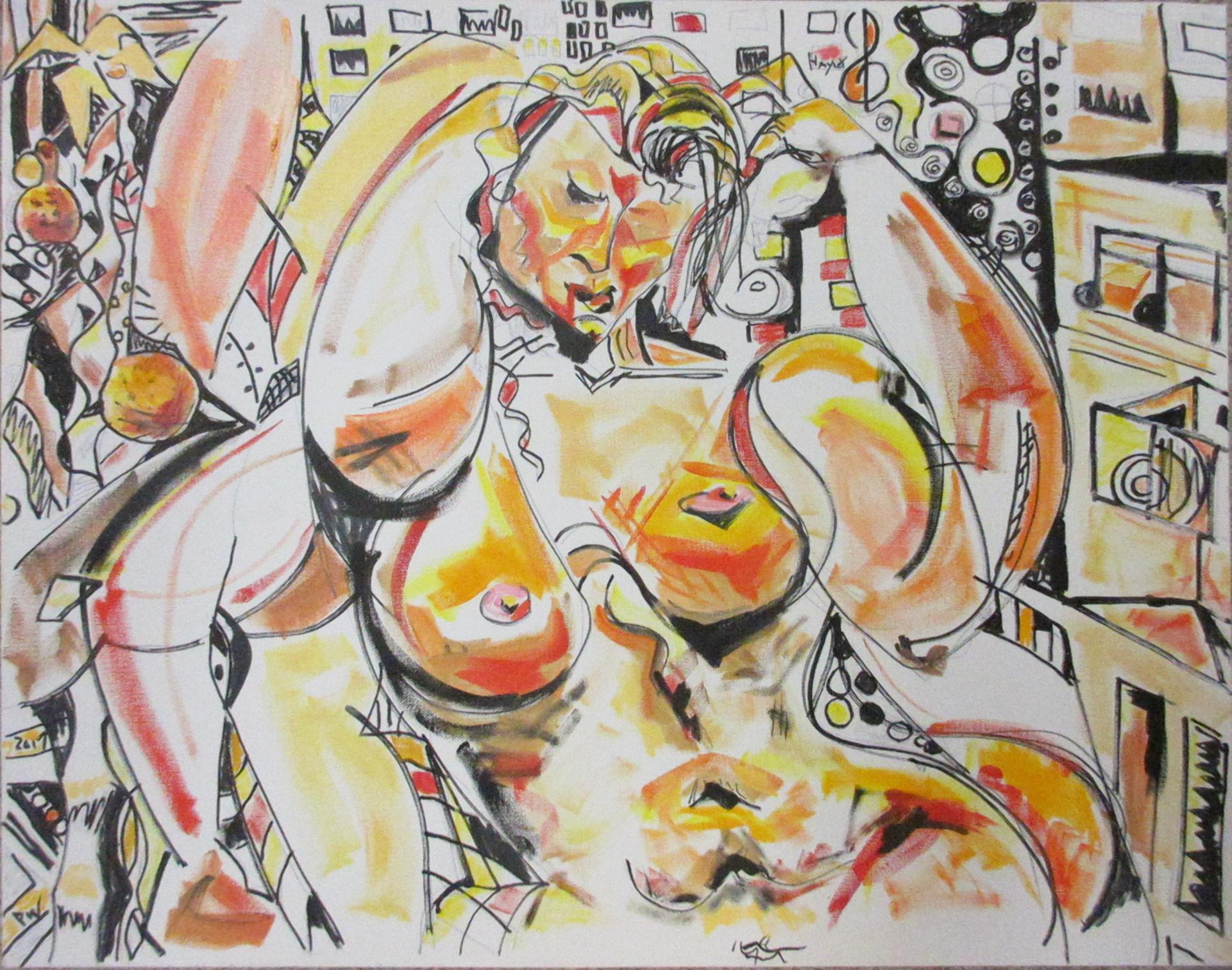 """""""Diosa de la Danza"""", oil, 22""""x28"""""""