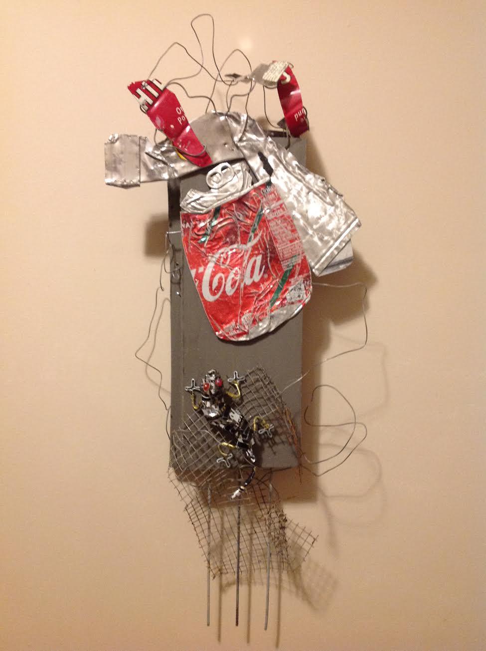 """""""Homeward Bound"""", found objects assemblage"""