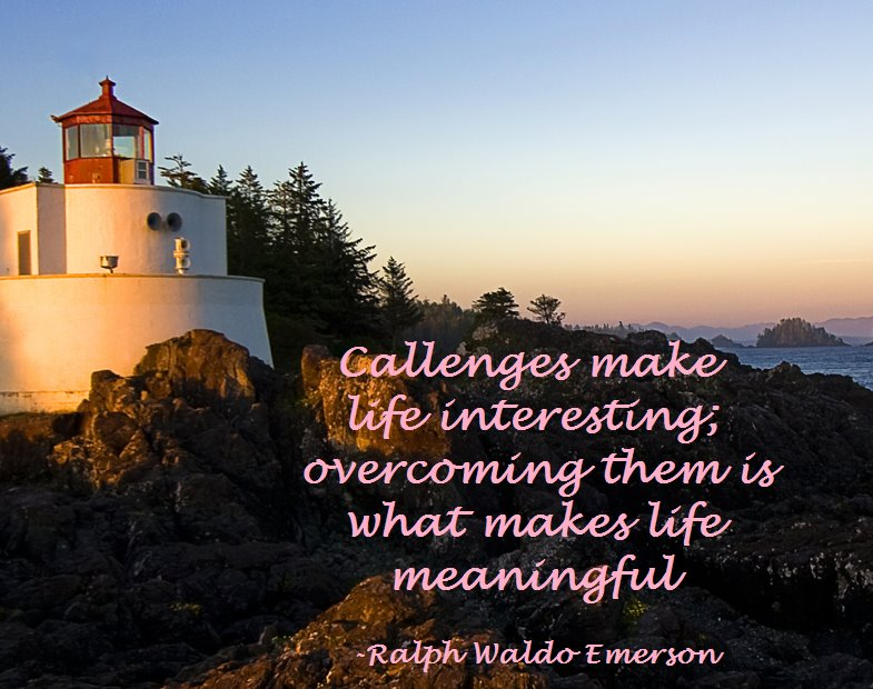 Challenges Quote Emerson