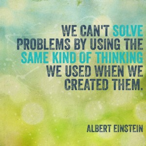 Albert Einstein on the need to change our thoughts.