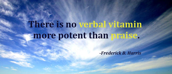 There is no verbal vitamin more potent than praise