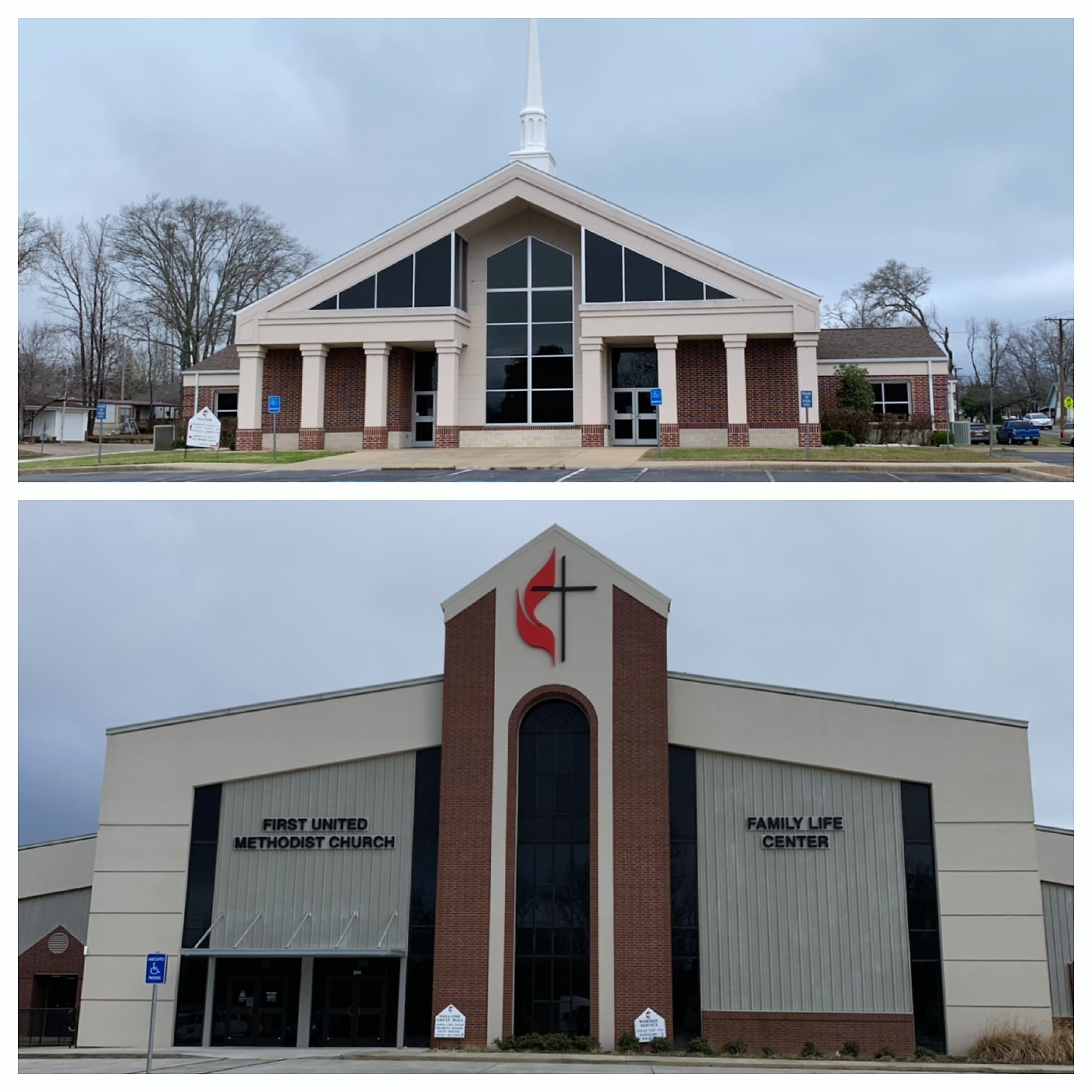 First United Methodist Church Chandler Sanctuary (Top) Family Life Center (Bottom).JPG