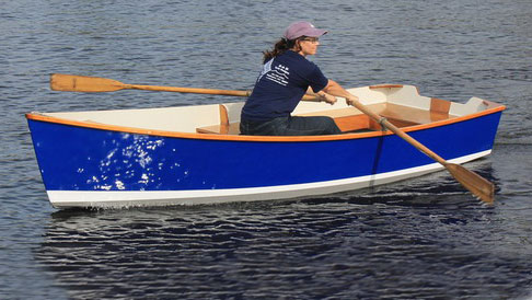 Amanda — from B&B Yacht Designs - Length 12′; Beam 4′ 5½″; Weight 150 lbs.More details from B&B Yacht DesignsTo reserve your spot or to inquire about other possible boats that can be built at Family BoatBuilding, please contact Graham Byrnes at: 919-923-1464 or bandbkitboats@gmail.com