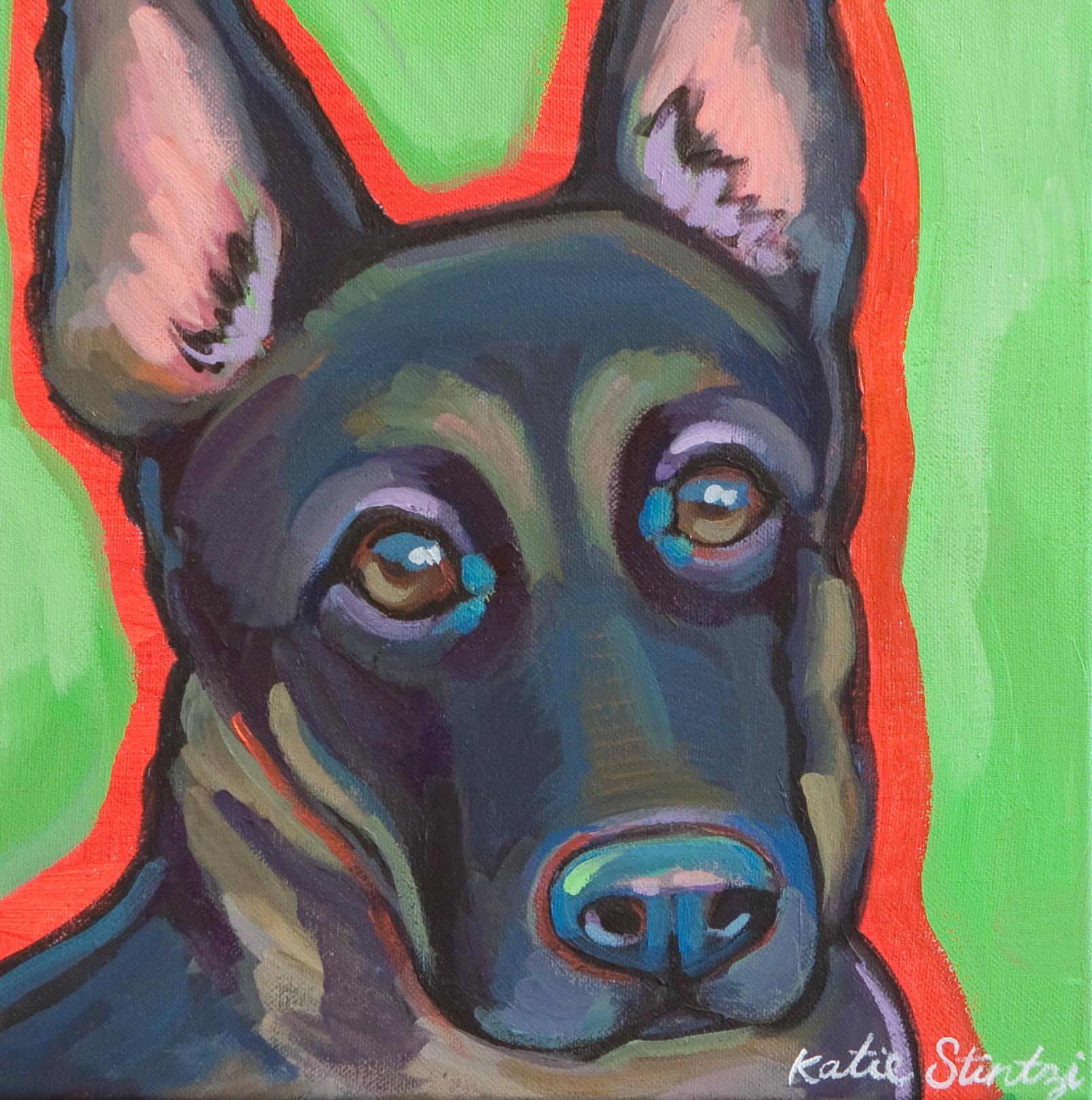 German Shepherd painting Dog portrait german shepherd.jpg