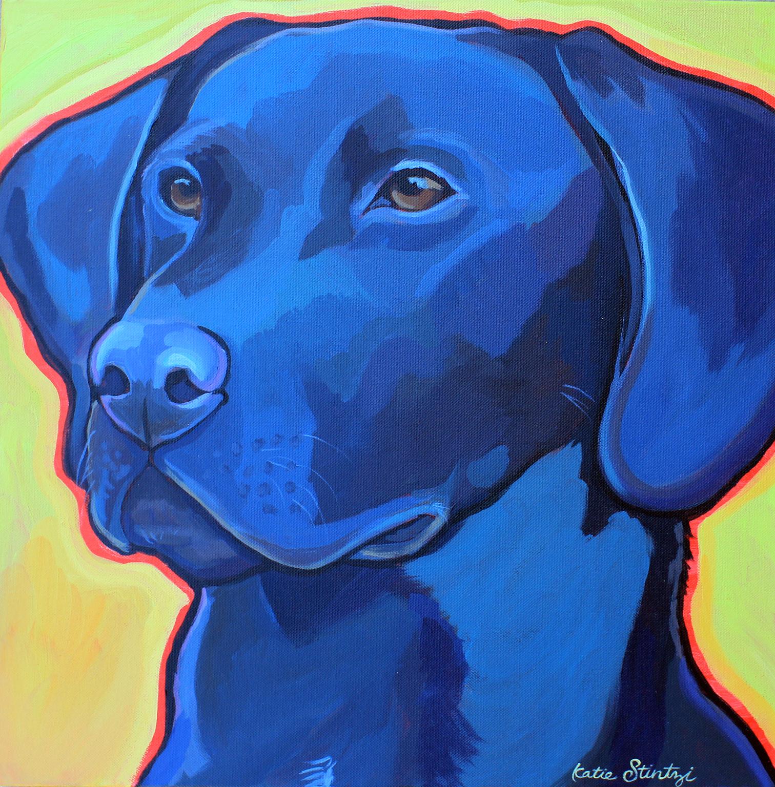 Black Lab painting labrador retriever Pet Portrait.jpg