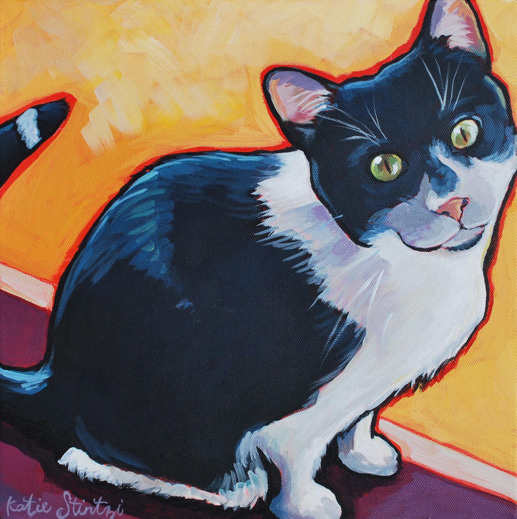 Cat Pet Portrait Painting Artist Paint my cat.JPG