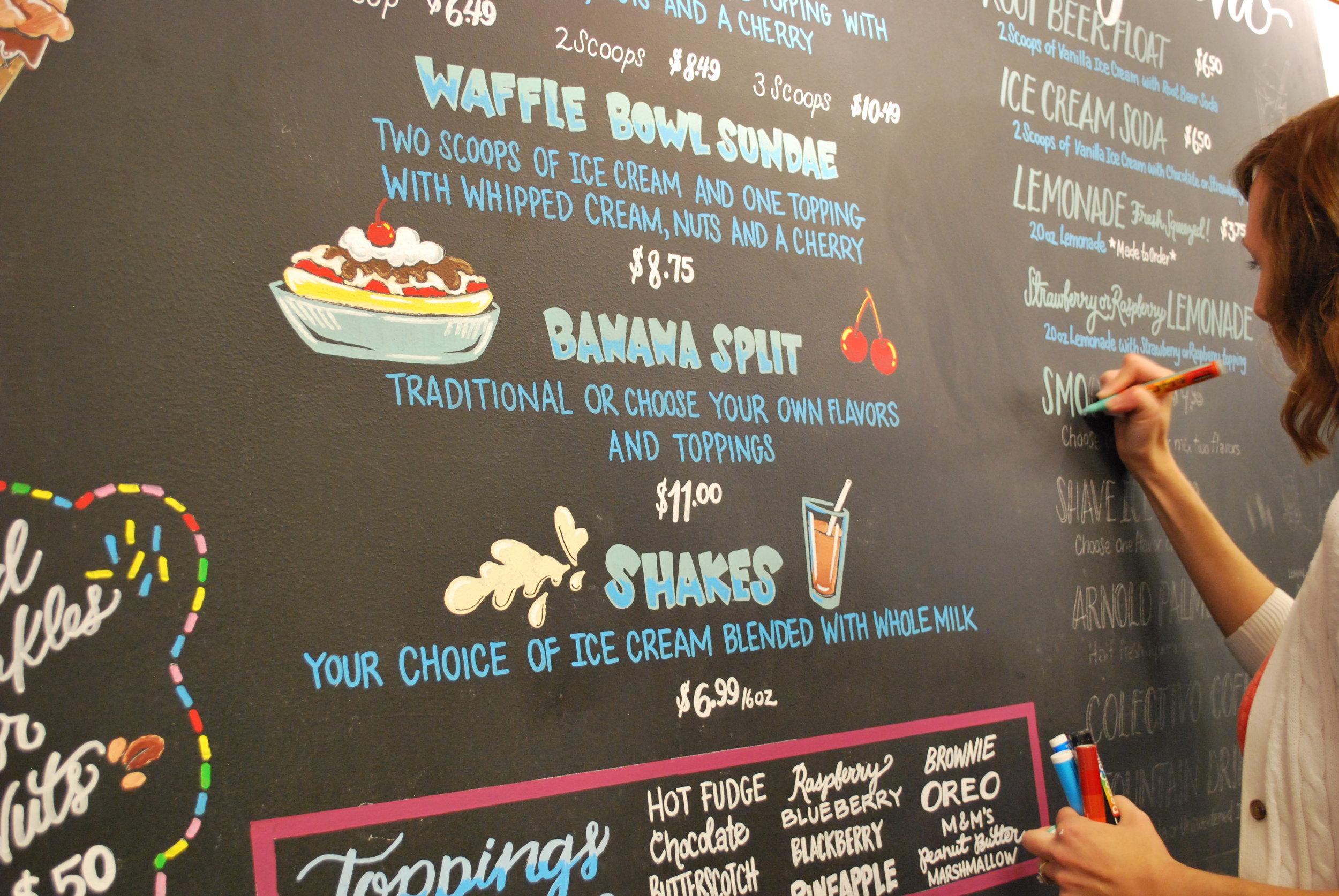 Scoops Lake Geneva Ice cream shop Chalk Menu Board.JPG