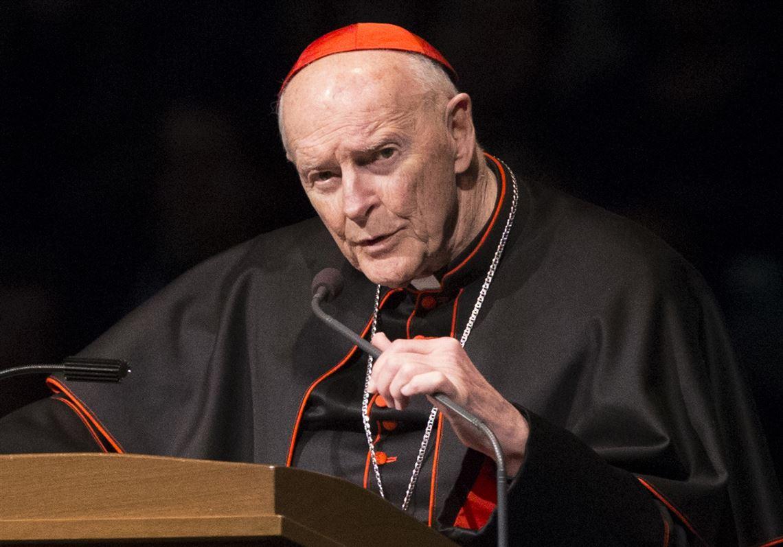 Photo of Archbishop McCarrick by Robert Franklin/South Bend Tribune via AP
