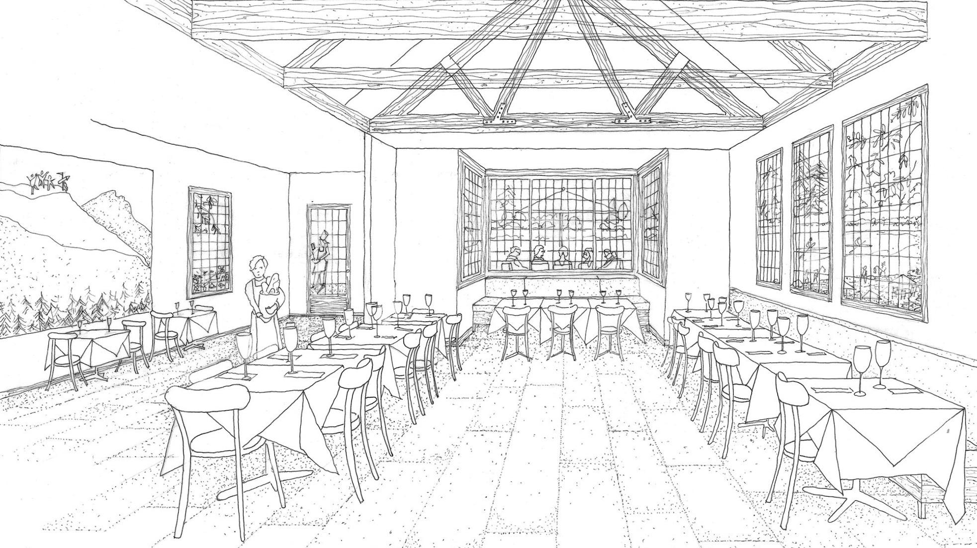 New dining room will overlook Occom Pond.