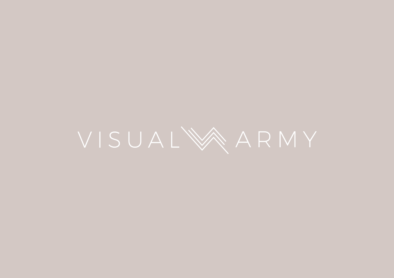 VisualArmy secondary logo on marble background
