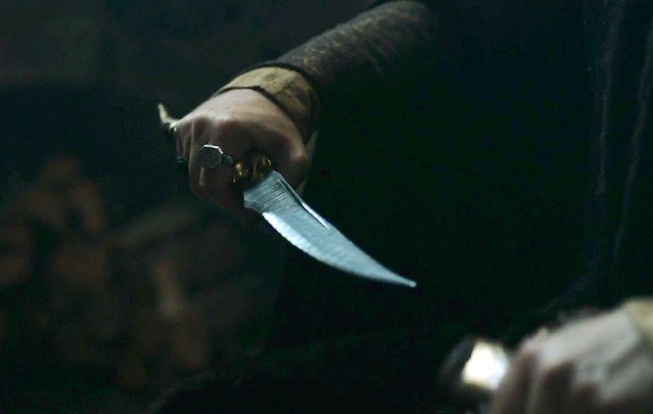 A knife wound doesn't necessarily need to be terminal—unless it's with Littlefinger/Arya's dagger. Credit HBO/Press
