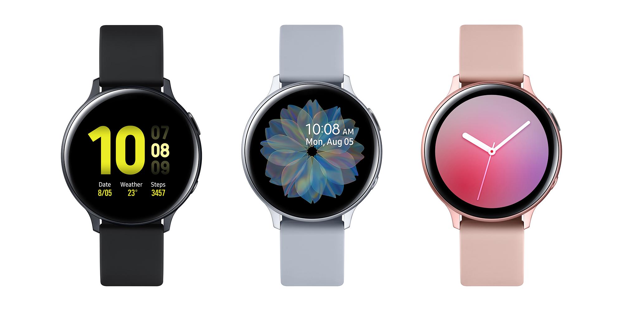 Samsung Galaxy Watch Active2 - aluminum/plastic strap versions