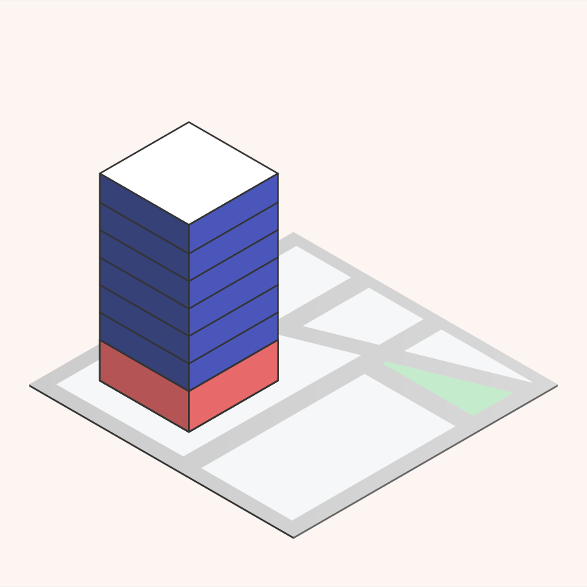 4.  A color-coded 3D model is generated based on your initial selections. This is the starting point.