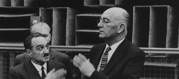 Andrew A. Kucher [right] with Anastas I. Mikoyan [left] (Life Magazine, 1959)