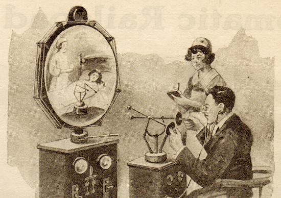 The doctor of the future examines a patient, 1925 ( Novak Archive )
