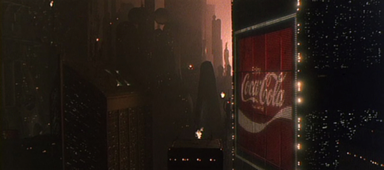 Digital billboard in 2019 Los Angeles from the film Blade Runner (1982)