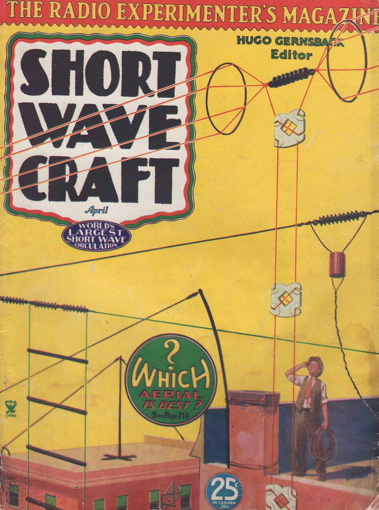 April 1935 issue of  Short Wave Craft  magazine ( Novak Archive )