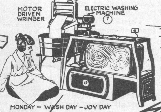 The electric washing machine from the 1919 New York Electrical Show (Novak Archive)
