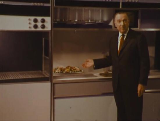 Walter Cronkite in Philco-Ford kitchen of the future (1967)(CBS)
