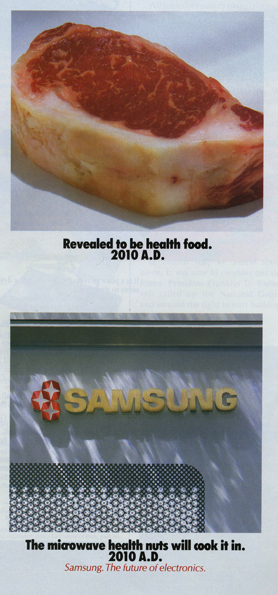 Samsung ad from the December 1988 issue of Smithsonian magazine
