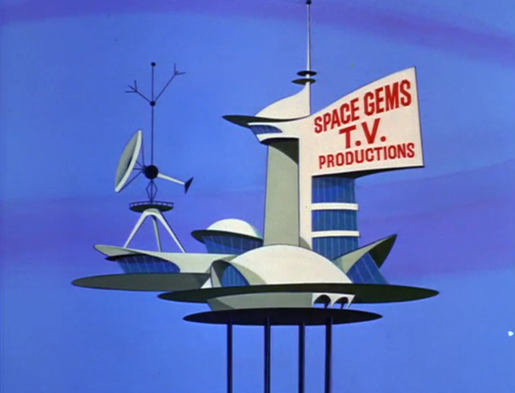TV production studio in the Jetsons universe (1963)