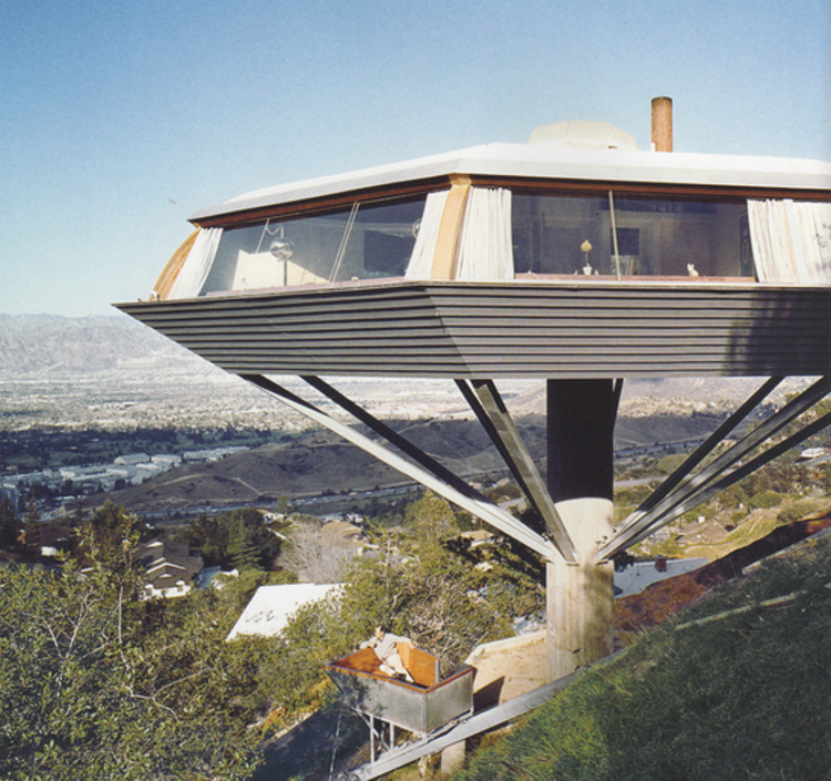 "John Lautner's Malin Residence ""Chemosphere"" built in 1960 in Hollywood, CA"