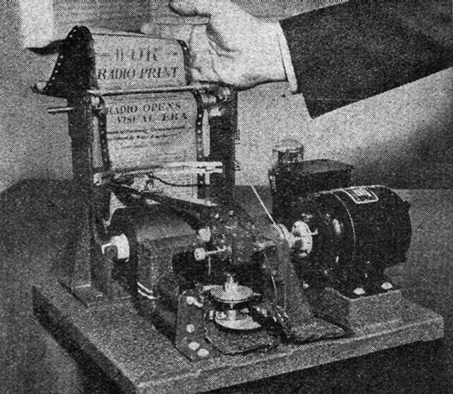 Machine for printing a newspaper in the privacy of your own home via radio in 1938 (Novak Archive)