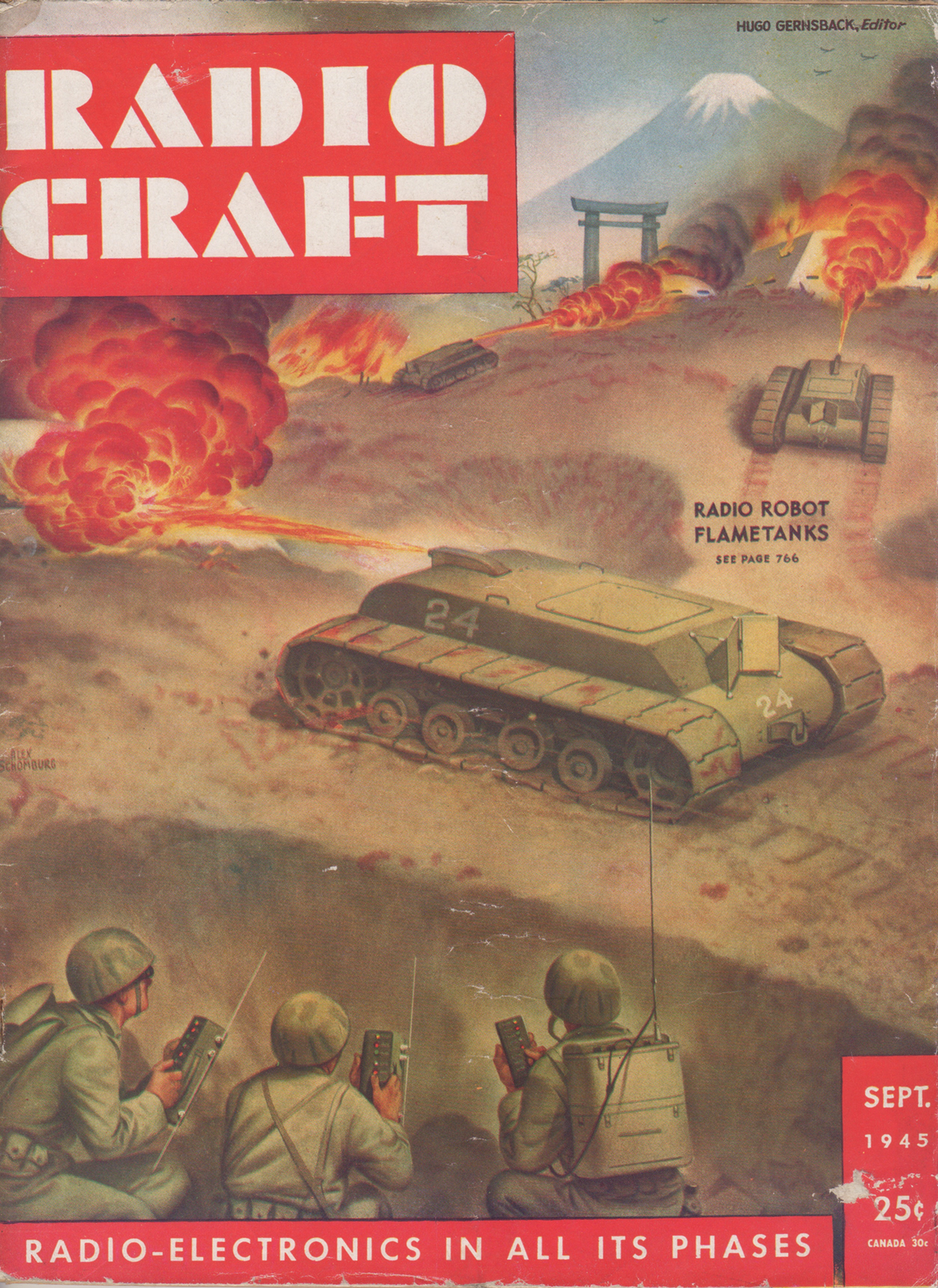 September 1945 issue of Radio-Craft magazine ( Novak Archive )
