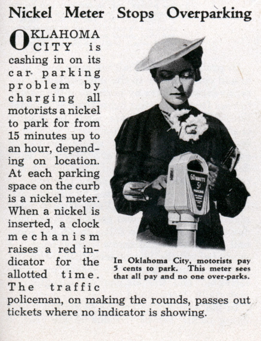 Photograph of the nickel meter which appeared in the October 1935 issue of Modern Mechanix courtesy of the    Modern Mechanix    blog