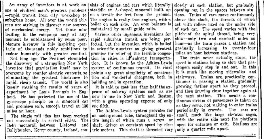 1912 Aug 15 Fort Wayne Sentinel - Fort Wayne IN paleofuture article.jpg