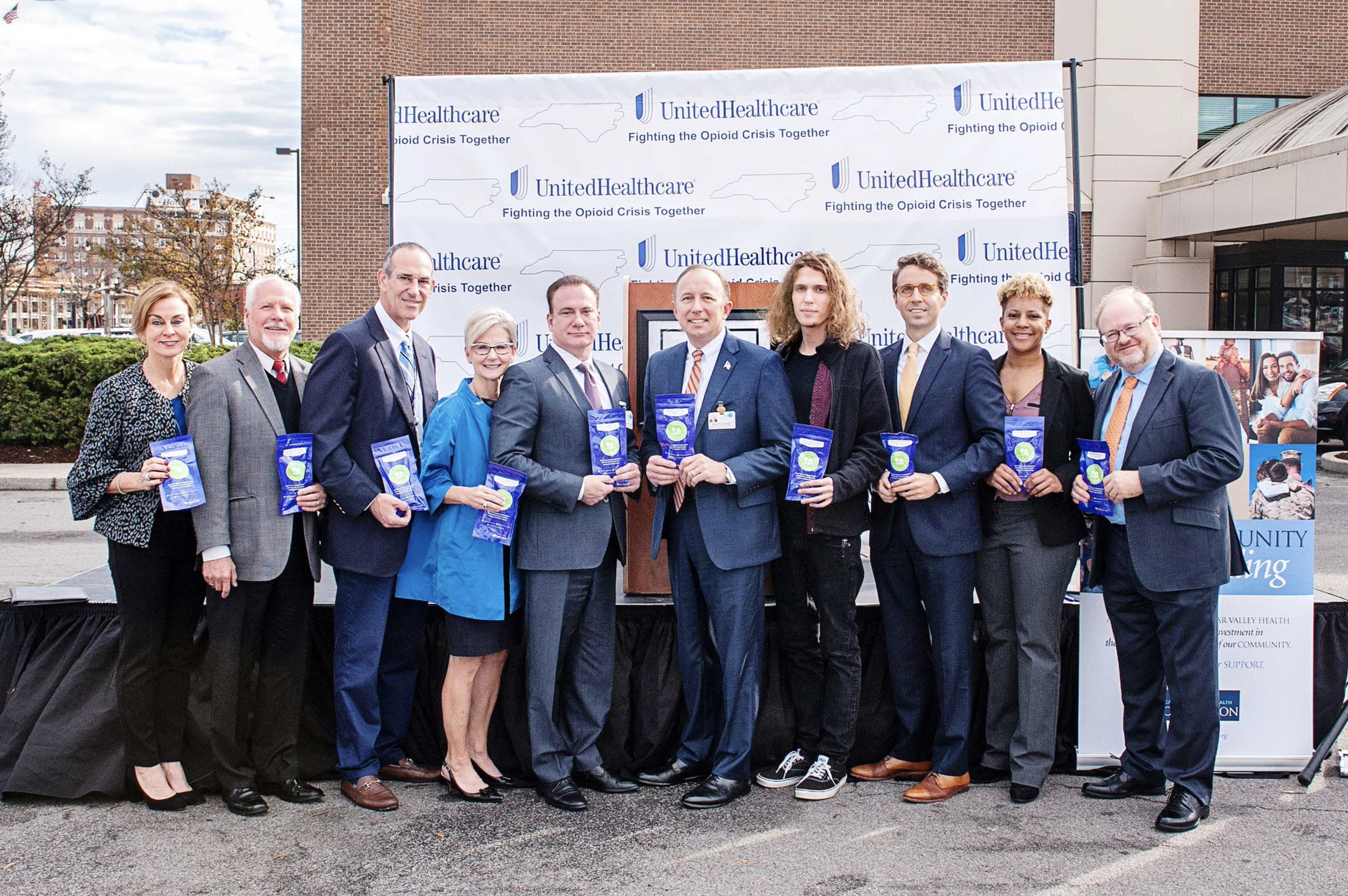 UnitedHealthcare Gifts Cape Fear Valley Health with 10,000 Opioid Disposal Kits