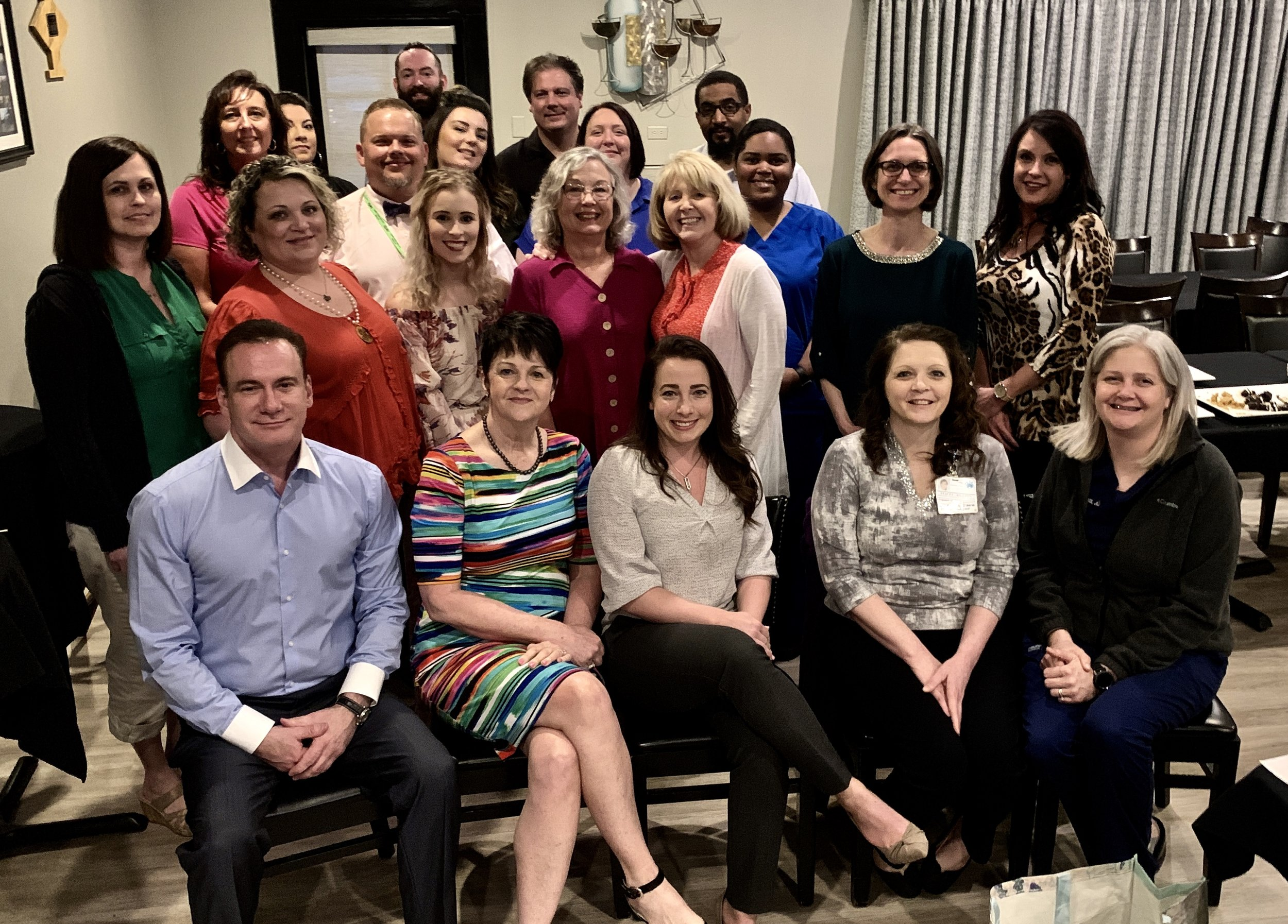 Dr. Zappa and the CFV ED leadership team at a recent ED retreat where they enjoyed an inspiring evening of celebration, bonding, and personal growth.
