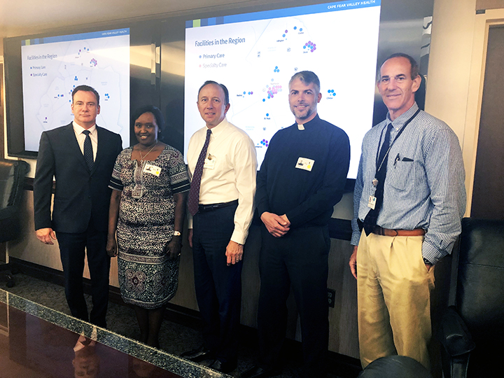 Florence Gasatura, MSN, RM, RN, CEO of King Faisal Hospital in Rwanda visits Cape Fear Valley