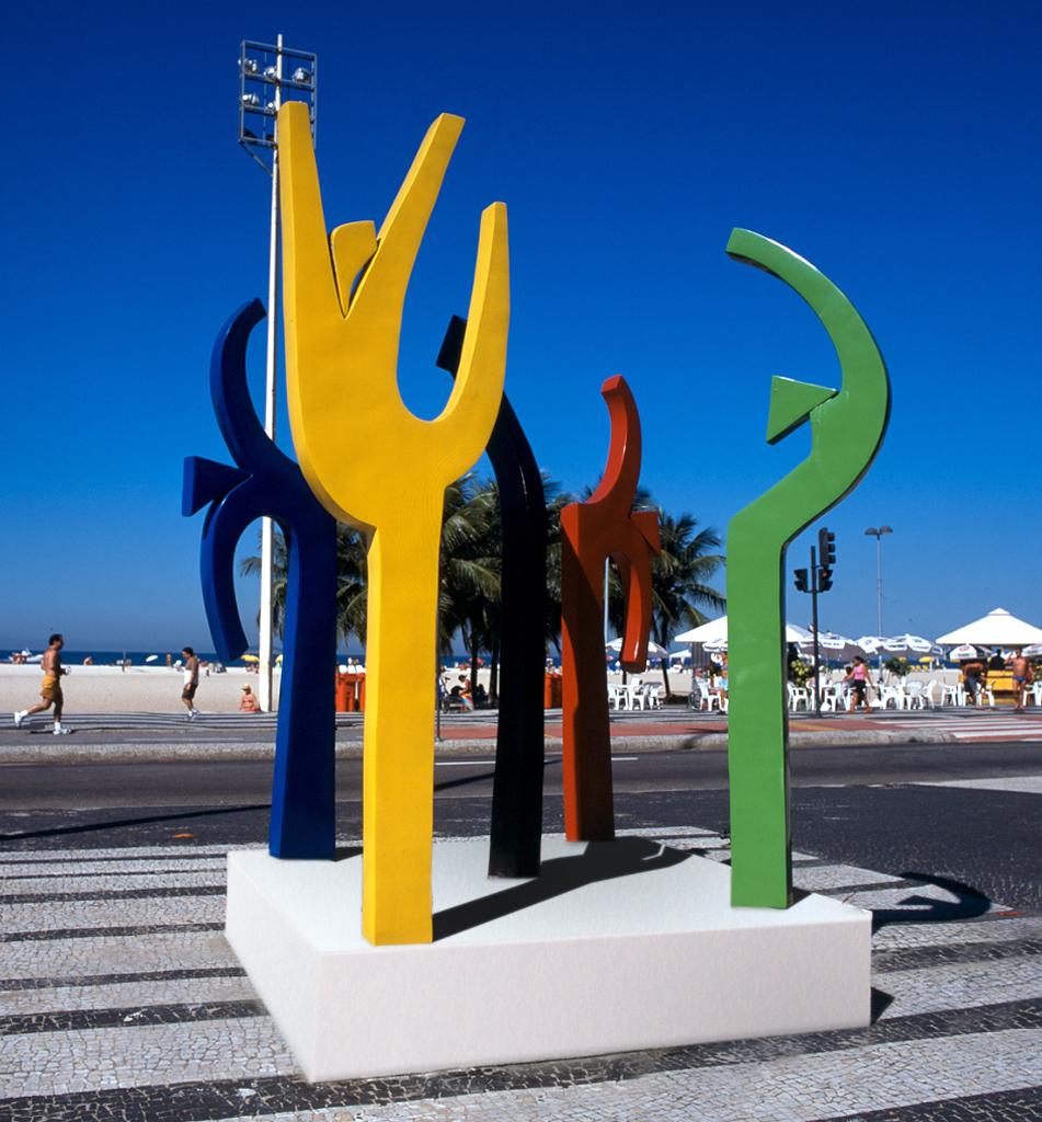 Tributo ao esporte - Avenida Atlantica - Rio de Janeiro