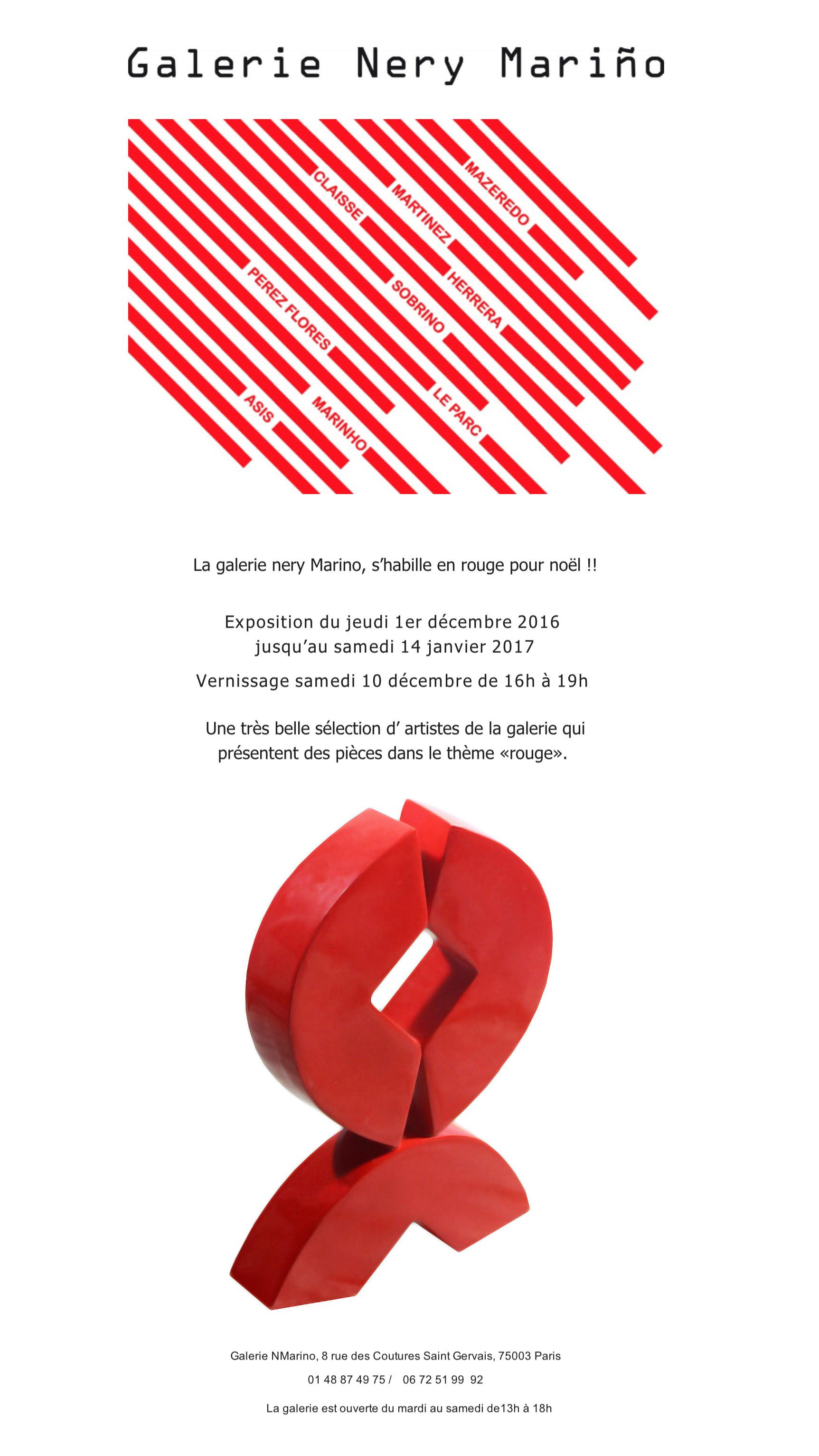 Convite Paris 2016 - Galerie Nery Marino