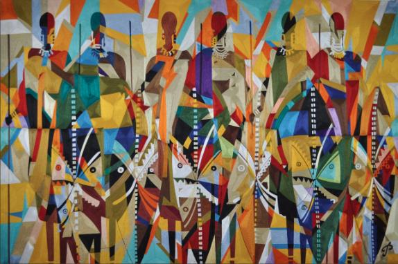 '6 Maasai Warriors' by Prince Duncan-Williams