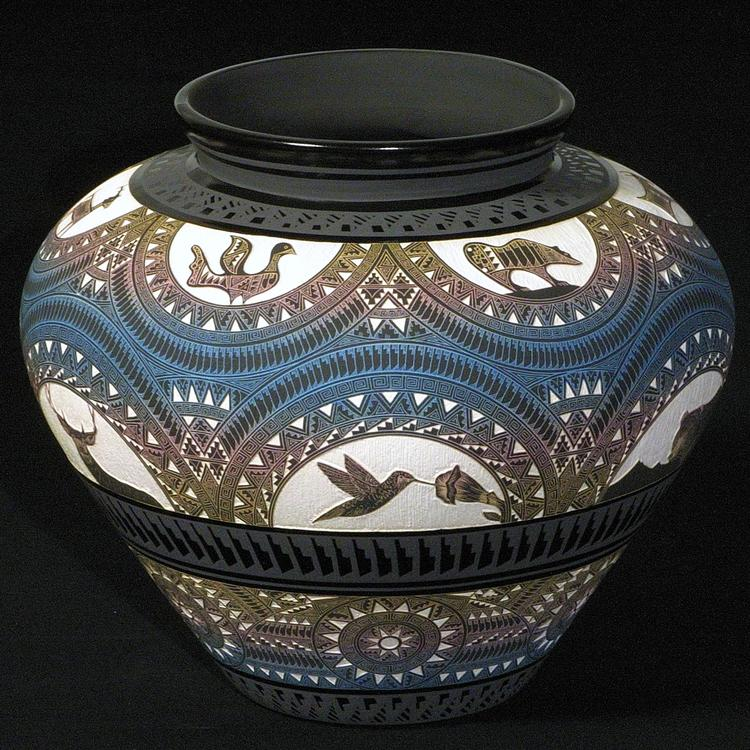 'White Rainbow Jar' by Marvin Blackmore