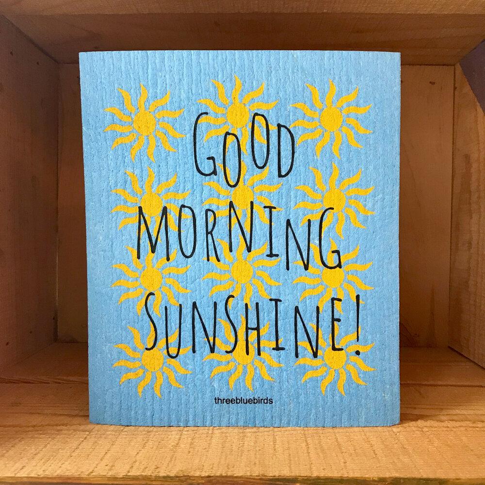 Good Morning Sunshine Swedish Dishcloth Divertido