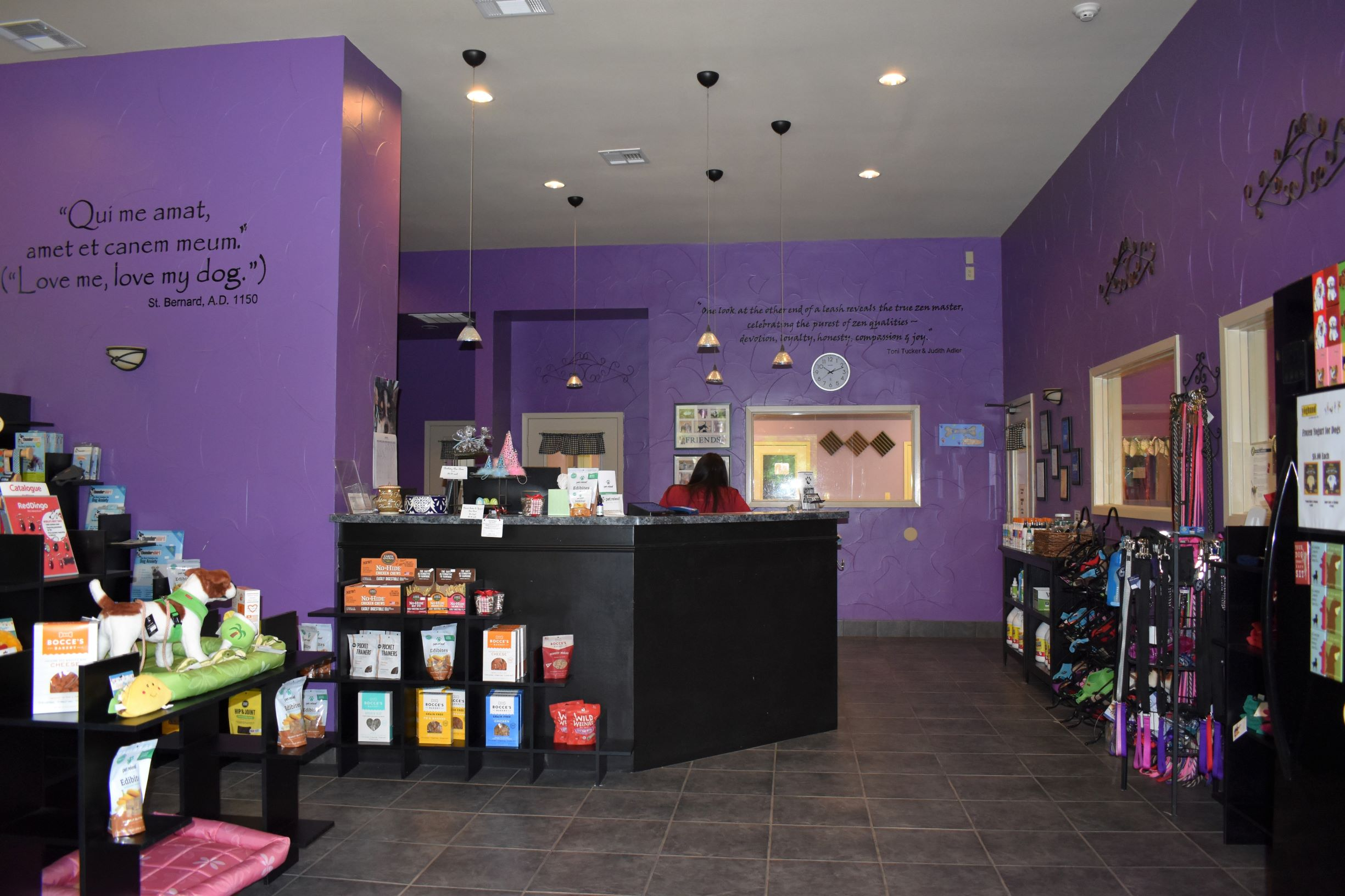 Our retail shop carries a variety of toys, treats, collars, leashes & training equipment!